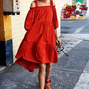 Red/ coral HM dress boho S